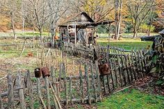 Autumn Scene Old Fence Scarecrow Smokehouse Fall Colors Smoky Mountains by Rebecca Korpita - Autumn Scene Old Fence Scarecrow Smokehouse Fall Colors Smoky Mountains Photograph - Autumn Scene Old Fence Scarecrow Smokehouse Fall Colors Smoky Mountains Fine Art Prints and Posters for Sale
