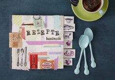 DIY Kochbuch Rezepte #cooking #book #do #it #yourself #stamping #recipe #scrapbooking #shabby #chic