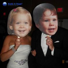 Build-A-Head makes the best, high quality and most affordable Big Head Cutouts. Make Your Own cardboard or foam Wedding Big Heads. Perfect Wedding, Our Wedding, Dream Wedding, Trendy Wedding, Wedding Venues, Wedding Reception, Wedding Officiant, Wedding Games, Wedding Humor