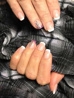 Salon #nail decorated with Swarovski #crystals