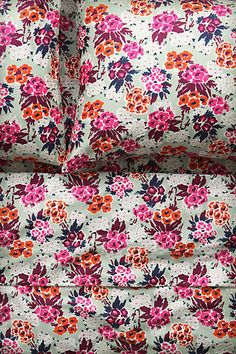 WANT these floral Anthropologie sheets! -Nosegay Sheet Set-