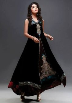Cheap pakistani dresses in usa   Attractive Look Front Open Party Dress