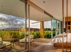 Browse our Entre Cielos gallery to see photos of our Mendoza Argentina hotel, first-class amenities, our luxurious rooms, local vineyards, and much more. Wine Hotel, Camas King, Wine Tourism, Romantic Weekend Getaways, Jacuzzi Outdoor, Outdoor Restaurant, Mendoza, Modern Buildings, Oh The Places You'll Go