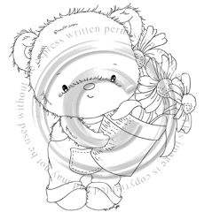 Whimsy Stamps, Bear Cartoon, Tatty Teddy, Penny Black, Cute Images, Digital Stamps, Coloring Sheets, Card Making, Cute Animals