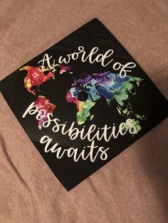 Graduation Cap #collegegraduation #travel #aworldofpossibilitiesawaits