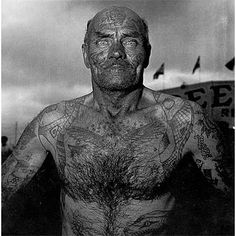 Tattooed Man by Diane Arbus