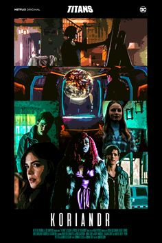 mvrleson — Netflix DC Titans fanmade posters of the episodes. Dc Comics Heroes, George Perez, Netflix Originals, Comic Movies, Nightwing, Dc Universe, Gotham, Marvel Dc, Sci Fi