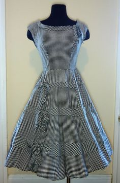 Vintage gingham dress.  Combine with that large gingham maxi skirt