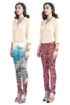 printed jeans!