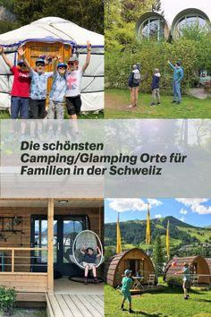 Camping und Glamping bieten eine tolle Gelegenheit, um mit der ganzen Familie erholsame und entspannte Tage in der Natur zu geniessen. Wir haben die schönsten Orte für Campingferien in der Schweiz zusammen gefasst: Swiss Tubes am Thunersee, Family Pods in Scuol, Bungalows in Buochs am Vierwaldstättersee, Zelten in Flaach am Rhein und Schlafen in der Jurte in Braunwald im Glarnerland! #Camping #Glamping #DieAngelones Glamping, Bungalows, Happy, Travel, Train Trip, Ride Along, Camping Equipment, Family Getaways, Campsite