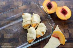 Ridiculously Easy Peach Dumplings | ©homeiswheretheboatis.net #easy #summer #peach #recipes #desserts Easy Desserts, Delicious Desserts, Yummy Food, Dessert Dips, Dessert Recipes, Apple Dumpling Recipe, Peach Dumplings, Fruit Cobbler, Cobbler Recipe