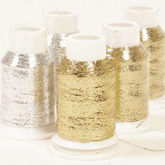 Drops Glitter Yarn - Glimmering thread in 10 gram spools, DROPS Glitter comes in 4 shades: gold, silver, bronze and red. Drops Kid Silk, Drops Baby, Drops Design, Wool Yarn, Wool Felt, Drops Lima, Laine Drops, Drops Karisma, Drops Alpaca