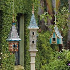 Victorian Style Birdhouses outdoors nature birds garden victorian birdhouse wildlife