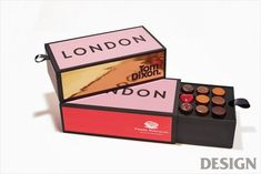 These striking chocolates from one of the world's top chocolatiers, Pierre Marcolini, are beautifully packaged in a Tom Dixon 'London Brick' design. Smart Packaging, Luxury Packaging, Pretty Packaging, Cosmetic Packaging, Food Packaging Design, Brand Packaging, Box Packaging, Branding Design, Luxury Chocolate