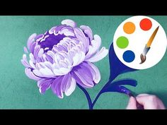 Easy way to paint the Peony, painting by a round brush, painting for b. Simple Oil Painting, Peony Painting, Acrylic Painting Flowers, One Stroke Painting, Acrylic Painting Techniques, Gouache Painting, Painting Videos, Beginner Painting, Flower Art