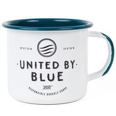 enamel mug | united by blue #bluemovement