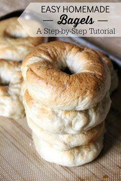 Homemade bagels are easier than you think! With a little bit of kneading, and some basic bread ingredients, you'll have chewy homemade bagels in no time.
