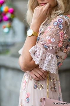 Embroidery, frills and a touch of sparkle...the perfect occasion outfit combination.