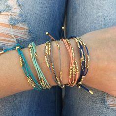 Coral Layering Bracelet #coral #bracelet #summer tocfavorites.com