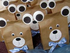 Teddy Bear Party Favour Bags