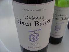 Chateau haut ballet.  A Bourdeux, served at Bistro St. Tropez!