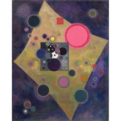 Magnolia Box Accent En Rose 1926 by Wassily Kandinsky Art Print on Canvas
