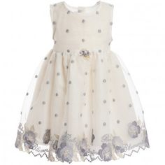 MISS BLUMARINE Baby Girls Gold Dress