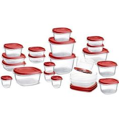 Lids snap together and to container bases so you can always find the right lid Graduated sized containers nest for compact storage One lid fits multiple bases Includes: 5 (0.5 Cup), 5 (1.25 Cup), 5 (2