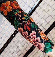 Amazing Tattoo Ideas on Arm Tattoo tattoo styles Japanese Tattoo Designs, Japanese Sleeve Tattoos, Full Sleeve Tattoos, Tattoo Sleeve Designs, Tattoo Japanese, Colorful Sleeve Tattoos, Black Sleeve Tattoo, Tattoo Black, Forearm Tattoo Design