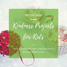It's the perfect time to engage your kids in acts of kindness and giving. Check out our project ideas on the blog and your chance to win a $25 Amazon gift card. Click on the link in our profile @givingartfullykids . . We're also excited to be part of the