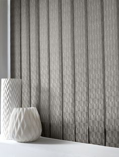Style Studio Vector Concrete Vertical Living Room Blinds. Soft grey. Contemporary. Vertical blind. Modern window dressing. Silver. Concrete decor. Living room.