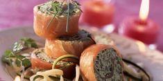 Roulés de saumon en verdure