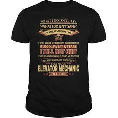ELEVATOR-MECHANIC #shirt #T-Shirts. CHEAP PRICE:  => https://www.sunfrog.com/LifeStyle/ELEVATOR-MECHANIC-144011256-Black-Guys.html?60505