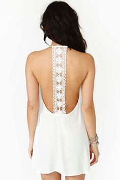 Field Daze Dress - White in Clothes at Nasty Gal