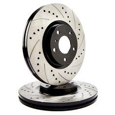 ATL Autosports Performance Brake Rotors Front Pair Fits 2010 Mercedes-Benz S550 ATL34418-56PDS, Black