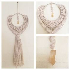 Creation to inspire... ABUNDANCE  This handmade macrame wall hanging is a piece of art. It has been handmade using 100% cotton cord, and then