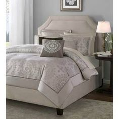 Go ahead and bring a little stylized elegance to your bedroom lineup with this eye-catching Madeline 12-Piece Jacquard Comforter Set. Adorned in an attractive array of clay-colored medallions that'll enhance the look and feel of any room in your home, this classy bed set - sized to fit a queen, king, or California king bed - includes a 100% polyester comforter, 2 euro shams, 2 king shams, 2 pillowcases, 1 fitted sheet, 1 flat sheet, tailored bed skirt, and 2 decorative pillows. Polyes...
