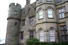 Croft Castle.england. The four round towers still exist to their original height and their battlements have been restored in later years. The castle was involved in the battle of Mortimer's Cross in 1461 when Sir Richard Croft set forth from it with his soldiers towards the battleground a few miles away. A decendent of Sir Richard fought for King Charles at Stokesay in the 1640's during the English civil war and, following the eventual Royalist defeat, Croft Castle was slighted to render 16