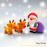 Santa Claus and Rudolph - This site is for making things with clay and in Korean but there are great step by step photos and would work just as well with fondant!