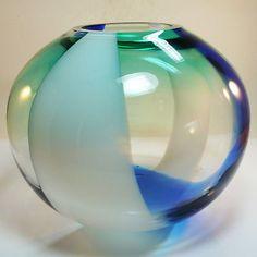 Glas Vase • Murano • 2,2 kg • Ball Vase