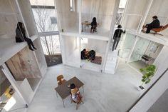 Yamazaki Kentaro Design Workshop - unfinished house #woning #vide #ruimteschakeling collectief #ruimte #loft