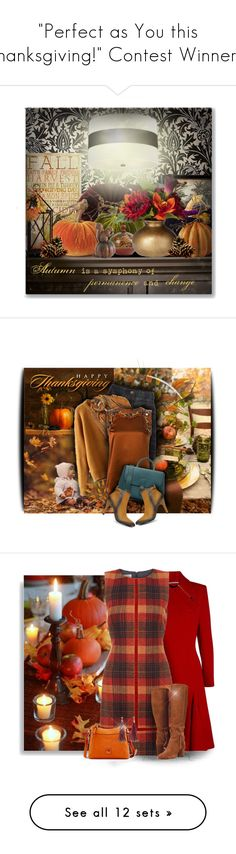 """""""""""Perfect as You this Thanksgiving!"""" Contest Winners!"""" by colierollers ❤ liked on Polyvore featuring Courtside Market, Creative Co-op, Threshold, Etro, Dsquared2, Burberry, thanksgiving, Roland Mouret, Hobbs and Dooney & Bourke"""