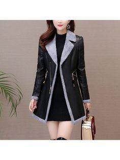 YYG Mens Lapel Plus Size Longline Loose Faux Lambwool Lined Down Coat Jacket Outerwear