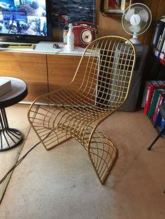 Pirinç sarı metal sandalye #metal #sarı #pirinç #tel #sandalye