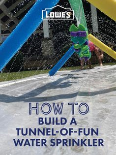 Turn your backyard into a water park with a fun sprinkler made from economical, easy-to-cut PVC pipe.