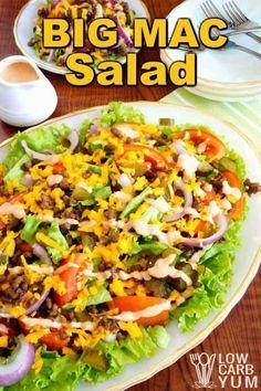 Low carb hamburger Big Mac salad cover