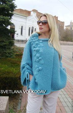 Sweater Knitting Patterns, Crochet Cardigan, Knitting Designs, Knitting Stitches, Knit Patterns, Knit Crochet, Knitted Cape, Knit Jacket, Crochet Fashion