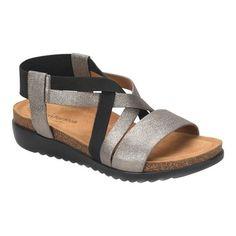 01d814f6ab0 Women s Comfortiva Eva Wedge Sandal - Anthracite Oscar Metallic Leather  Sandals Sandalias De Cuero