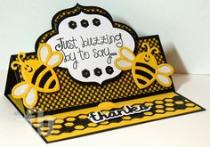 Just Buzzing By created by Frances Byrne using The Stamps of Life Bees4Me Stamp set and Sizzix  Elegant Stand-Ups Card Framelits