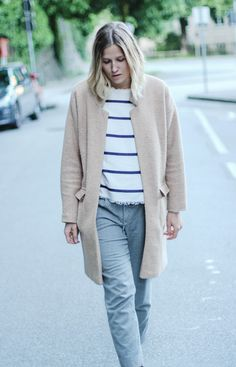 tifmys – Forever 21 coat, Zara striped shirt & Massimo Dutti pants.